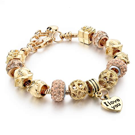 fit pandora bracelet 2015 high quality charms fit pandora bracelet gold