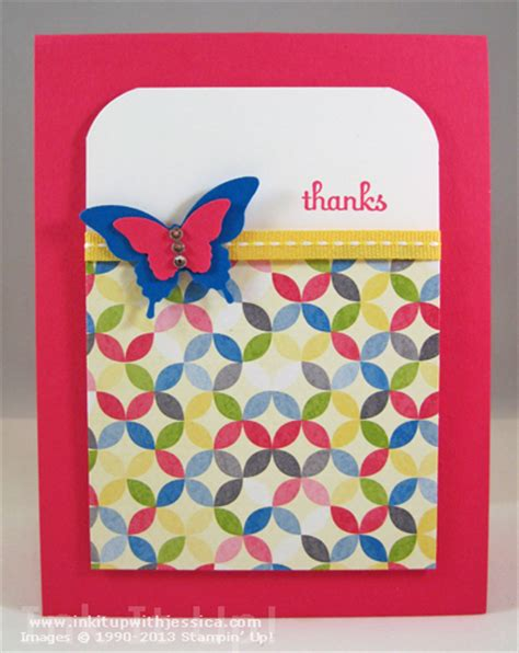 thank you cards can make butterfly punch thank you card ink it up with
