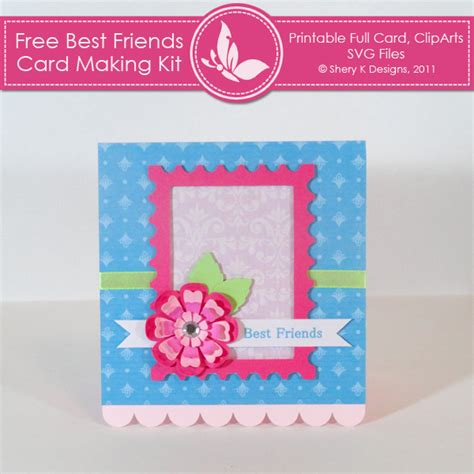 friendship cards for to make best friend card shery k designs