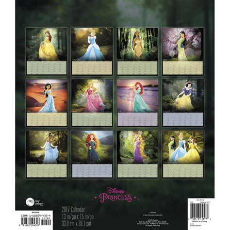 2018 disney princess wall calendar mead disney princess special edition 2017 wall calendar
