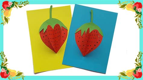3d paper crafts for how to make 3d paper strawberry so for craft