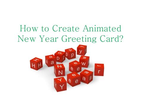 make a happy new year card how to make animated happy new year greeting card
