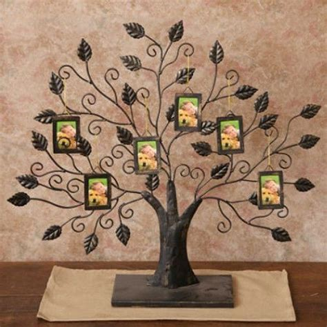 family tree ornaments new black metal standing family tree picture frame