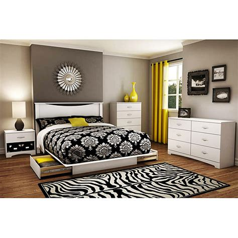 walmart bedroom furniture sets south shore soho 4 complete bedroom set value bundle
