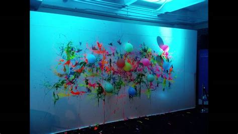 glow in the paint wall glow in the neon blacklight balloon dart wall with