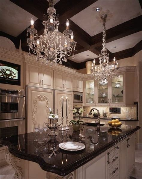 chandeliers for the kitchen best 25 luxury kitchens ideas on beautiful