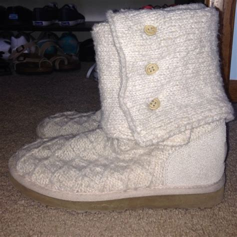 white knitted uggs 67 ugg shoes white lattice knit uggs from s