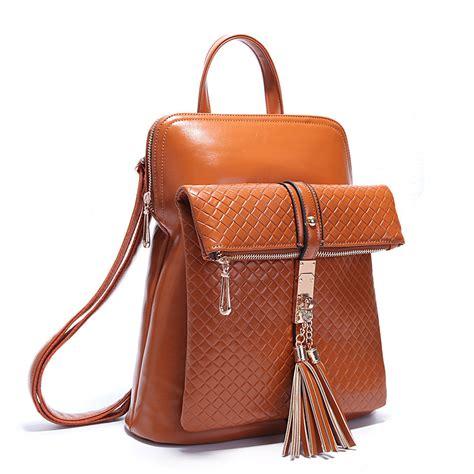 designer leather backpack aliexpress buy retro tassel backpack designer brand backpacks school bag pu leather