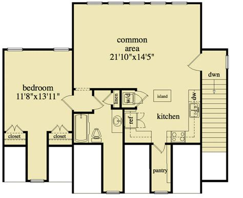 Detached Garage Apartment Floor Plans 3 bay detached garage and apartment 29853rl 2nd floor