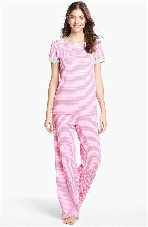 knit pajamas by ralph stripe knit pajamas in pink pink