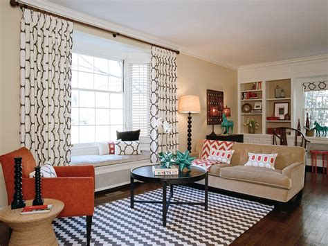 earth tone curtains living room contemporary with orange