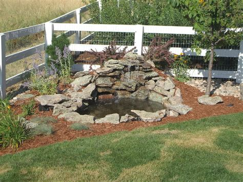 backyard pond ideas with waterfall garden and patio small diy ponds with waterfall and