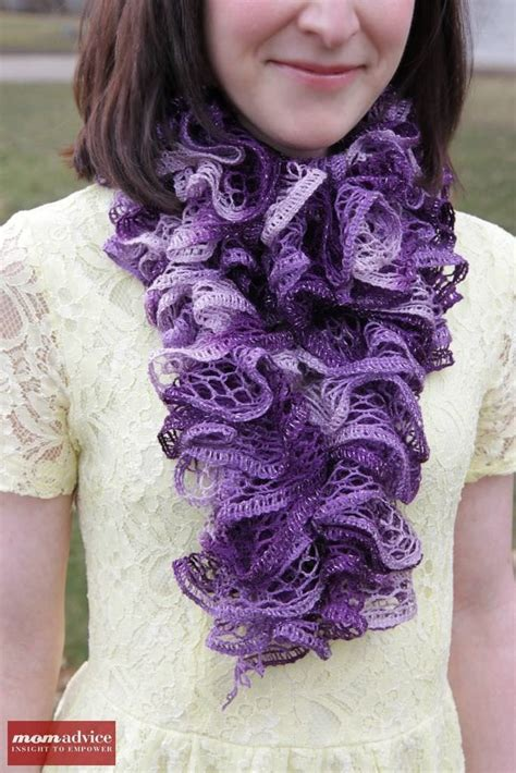 how to knit a ruffle scarf easy knitted ruffled scarf with sashay yarn momadvice