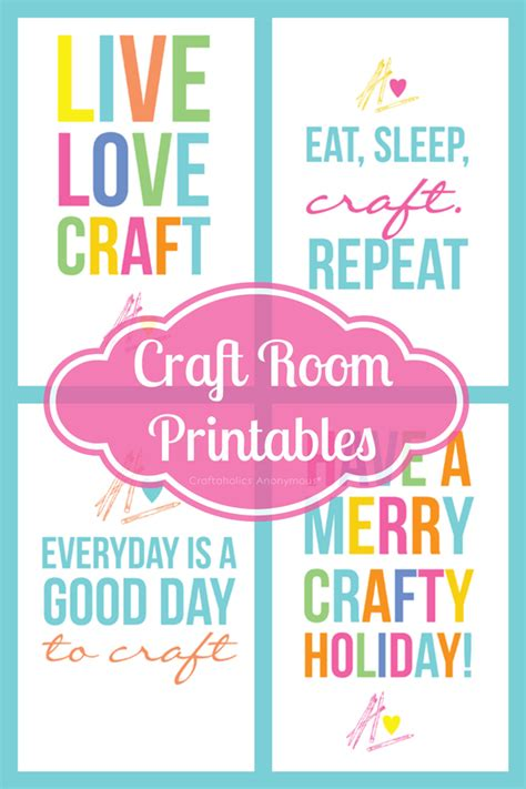 free printable crafts for craftaholics anonymous 174 colorful free craft room printables