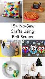 felt crafts for no sew 15 felt scrap crafts you will want to make zingzingtree