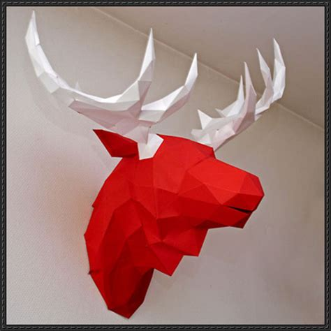 wall hanging paper craft papercraftsquare new paper craft moose wall