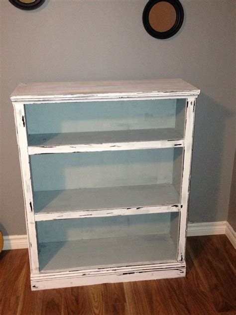 diy americana decor chalk paint a bookcase i made into a distressed vintage look using