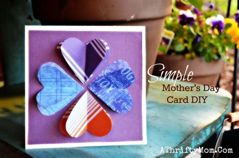 how to make simple mothers day cards simple s day card diy bloom card