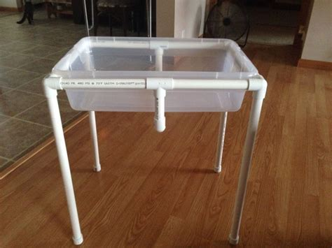 water sensory table adapted sand water or sensory table from pvc pipe less