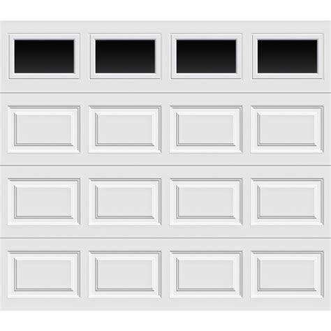 Home Depot Garage Doors Prices Clopay Premium Series 8 Ft X 7 Ft 12 9 R Value Intellicore Insulated White Garage Door With