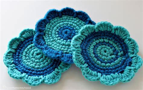 crochet coasters domestic goddess crocheted flower coasters