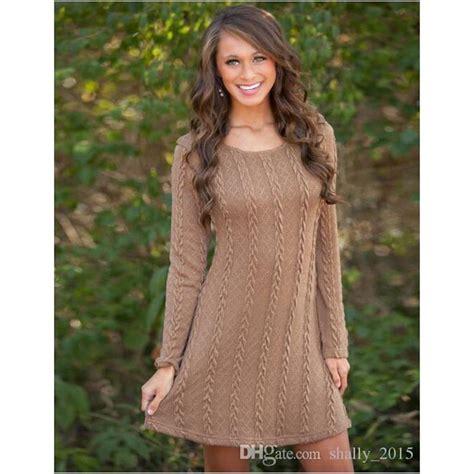 knitted winter dress thin knit winter dress casual style rhinestone slim