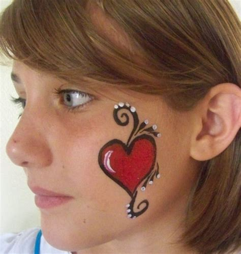 easy cheek designs cheek painting ideas cheek painting