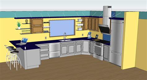 designing a kitchen with sketchup sketchthis net