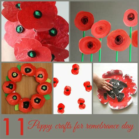 poppy crafts for 11 more poppy crafts for remembrance day in the madhouse