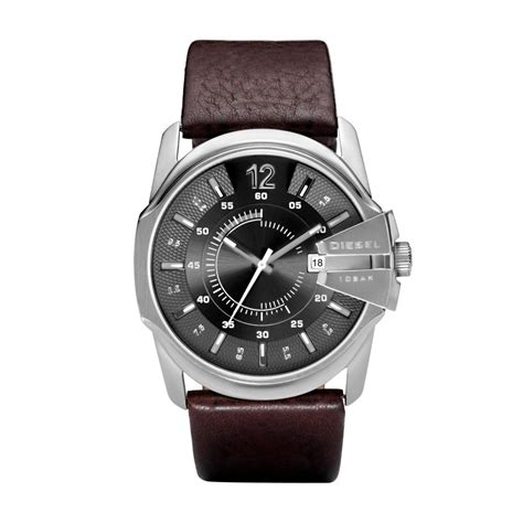 brown leather watches for diesel s diesel brown leather dz1206 diesel from bdazzled jewellers uk