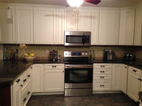subway tile backsplash kitchen khaki and chagne glass subway tile kitchen backsplash