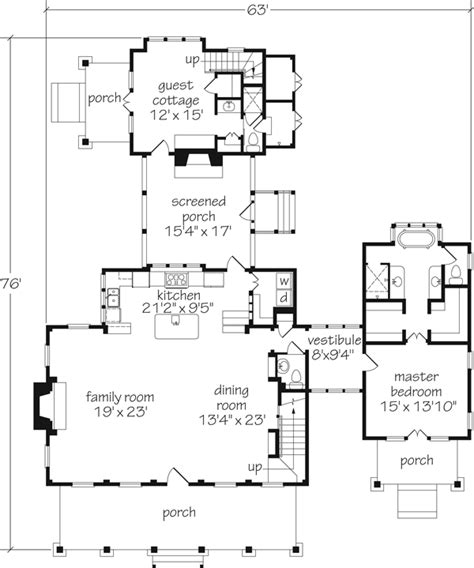 house plans with attached guest house dreamy home coastal living cottage of the year