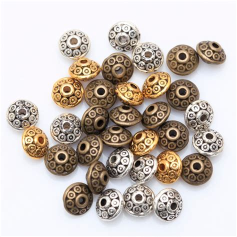 metal for jewelry wholesale factory price 100pcs antique metal silver spacer