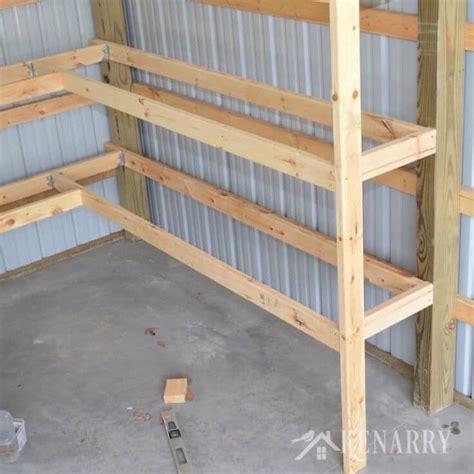 shelves for garage diy corner shelves for garage or pole barn storage