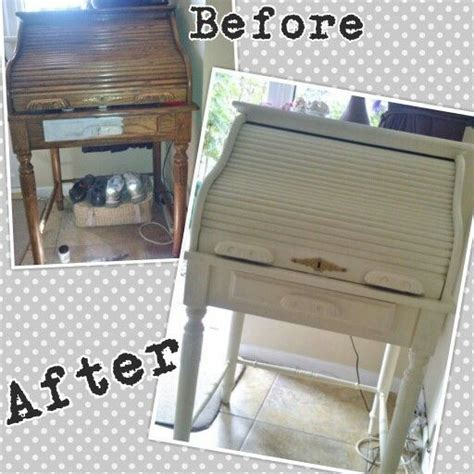 autentico chalk paint antique white customer transformation writing bureau transformed with