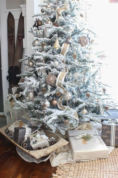 decorated flocked trees 1000 ideas about flocked trees on