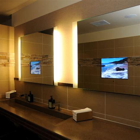 tv bathroom mirror bathroom mirrors with built in tvs by seura digsdigs
