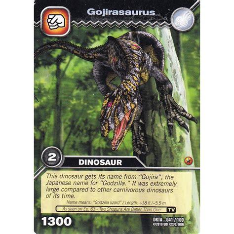 how to make dinosaur king cards deck dinosaur king card dkta 041gojirasaurus common