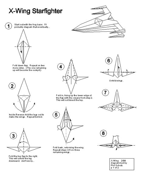 x wing origami wars origami