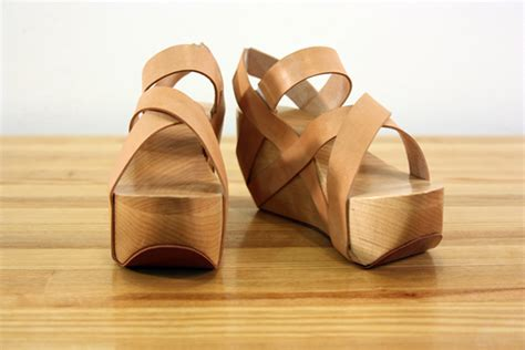 woodworking shoes wooden shoes on behance