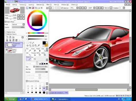 tutorial de pintura no paint tool sai tutorial como desenhar uma no paint tool sai part
