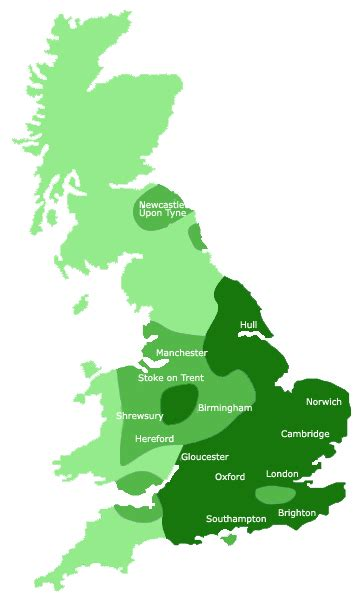 water uk water hardness area map water softener systems from