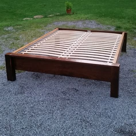 wood bed frame construction upcycled bed frame construction junction