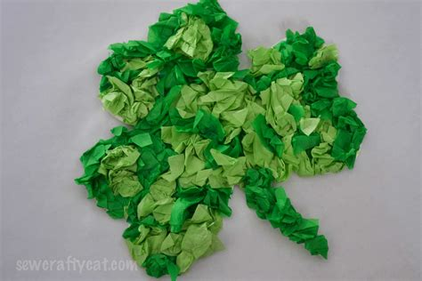 craft from tissue paper lucky shamrock tissue paper craft typically simple