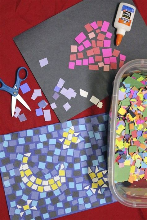 construction paper crafts for 2 year olds paper mosaics craft diy construction paper