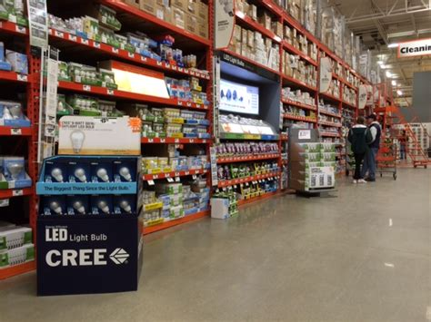 home depot paint aisle more households and businesses are adopting leds the