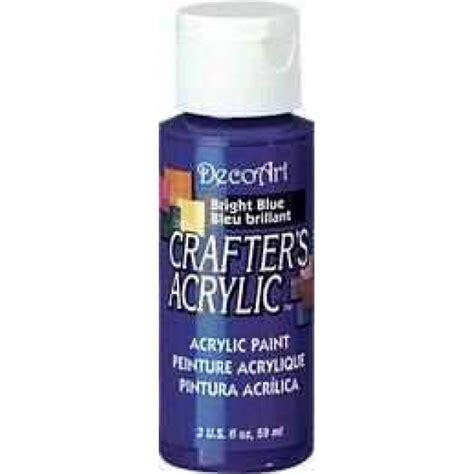 acrylic paint uk decoart bright blue crafters acrylic 2oz craft paints
