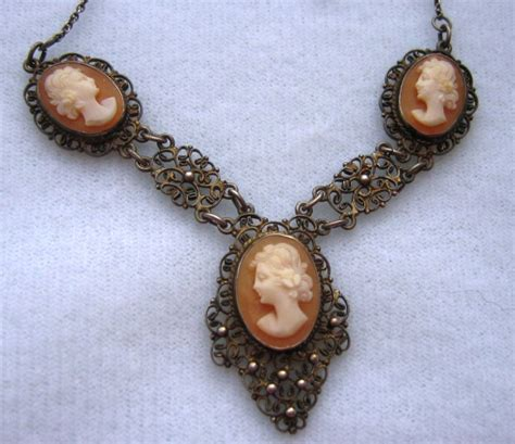how to make cameo jewelry vintage silver filigree shell cameo necklace from