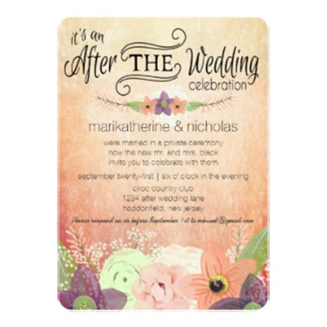 after invitations after wedding invitations announcements zazzle
