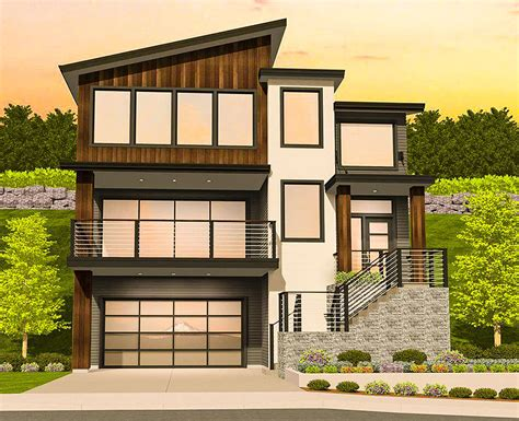 house plans for sloping lots modern house plan for a sloping lot 85184ms architectural designs house plans